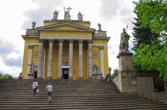 Cathedral Basilica of St. John the Apostle in Eger stock photography