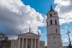 Cathedral Basilica Of St. Stanislaus And St. Vladislav With The Bell Tower Vilnius, Lithuania Europe Royalty Free Stock Images