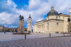 Cathedral Basilica Of St. Stanislaus And St. Vladislav With The Bell Tower Vilnius, Lithuania Europe Stock Photography