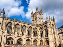 Cathedral of Bath, Somerset, UK. Cathedral of Bath with blue sky, Somerset, UK Royalty Free Stock Image