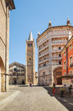 Cathedral and Battistero in Parma, Italy. Royalty Free Stock Photos