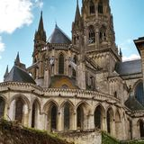 Cathedral in Bayeux. A gothic cathedral in Bayeux, France Royalty Free Stock Photos