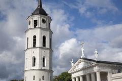 Cathedral and Belfry - Bell Tower, Vilnius, Royalty Free Stock Photo