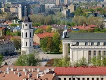 Cathedral belfry in the center of capital Vilnius Stock Images