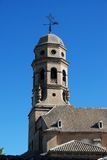 Cathedral bell tower, Baeza, Spain. Royalty Free Stock Photos