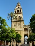 Cathedral bell tower in Cordoba, Spain Royalty Free Stock Photo