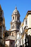 Cathedral bell tower, Malaga, Spain. Stock Photography