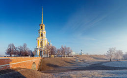 Cathedral bell tower of Ryazan kremlin,  XVIII—XIX century, Ru. Cathedral bell tower of Ryazan kremlin in winter,  XVIII-XIX century, Russia Royalty Free Stock Image