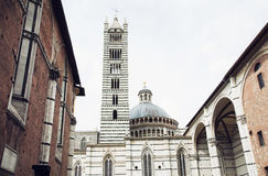 Cathedral with the bell tower in Siena, Italy Stock Image
