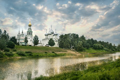 Cathedral bell tower of St. Sophia Cathedral in Vologda. City Stock Photography