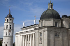 Cathedral and Bell Tower, Vilnius; Lithuania Stock Photography