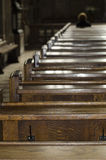 Cathedral benches Royalty Free Stock Photography