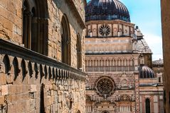Cathedral of Bergamo Lombardy Italy: the Bergamo Città Alta. stock photography