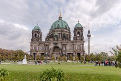 The Cathedral of Berlin Stock Photography