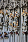 Cathedral of Bern. Detail of the Münster of Bern, gothic cathedral in Bern, Switzerland Royalty Free Stock Image