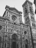 Cathedral black and withe contrast. Cathedral Santa Maria del Fiori black and with contrast Royalty Free Stock Images