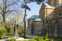 Cathedral of the Blessed Virgin Mary of Masovia, in Plock royalty free stock image