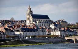 Cathedral of Blois in France Stock Photos