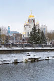 Cathedral on the Blood in winter, Yekaterinburg Stock Photos