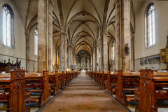 Cathedral Bolzano Bozen - Italy. Interior view of the gothic cathedral of Bolzano - Bozen in Italy Stock Photos