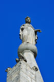 Cathedral in Bonnieux, France. Sculpture of the Virgin Mary Royalty Free Stock Photography