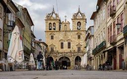 Cathedral of Braga, Sé stock image