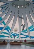 Brasilia capital catherdral by Oscar Niemeyer in Brasil royalty free stock image
