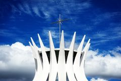 Cathedral of Brasilia, Brazil Royalty Free Stock Photo