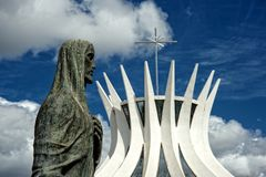 Cathedral of Brasilia, Brazil Royalty Free Stock Photography