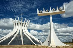 Cathedral of Brasilia, Brazil Stock Photography