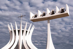 Cathedral of Brasilia Royalty Free Stock Photos
