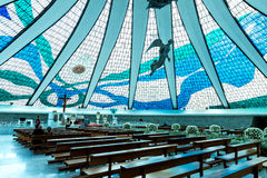 Cathedral of Brasilia, Brazil, South America Stock Images