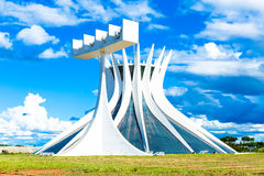 Cathedral of Brasilia, Brazil, South America Royalty Free Stock Photos