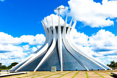 Cathedral of Brasilia, Brazil, South America.  Royalty Free Stock Image