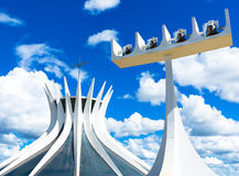 Cathedral of Brasilia, Brazil, South America Royalty Free Stock Photography