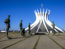 Cathedral of brasilia Stock Photos