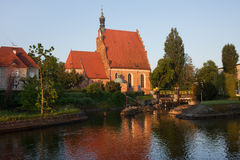 Cathedral and Brda River in Bydgoszcz Stock Photo