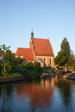 Cathedral and Brda River in Bydgoszcz Stock Photography