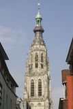 Cathedral of Breda, Holland. Tower of the cathedral of Breda, Holland Royalty Free Stock Image