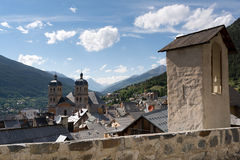 Cathedral in Briancon , France Stock Images