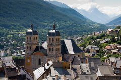 Cathedral in Briancon , France Royalty Free Stock Photos