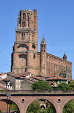 Cathedral and bridge at Albi in France Stock Photo