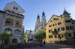Cathedral of Brixen with two towers, Bozen, Italy, Europe. Cathedral of Brixen with two towers, Bozen Bressanone, Italy, Europe stock image