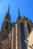 Cathedral in Brno. Cathedral of Saints Peter and Paul in Brno Czech Republic royalty free stock photography
