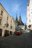 Cathedral in Brno from a side street Stock Image