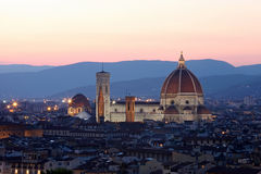 The Cathedral and the Brunelleschi Dome Stock Photography