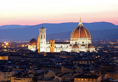 The Cathedral and the Brunelleschi Dome Royalty Free Stock Image