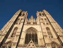 The Cathedral in Brussels 2 Stock Photo