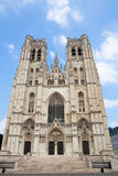Cathedral of Brussels Stock Photos