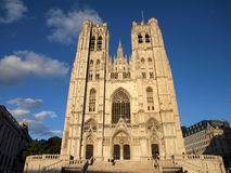 The Cathedral in Brussels 5 Royalty Free Stock Photos